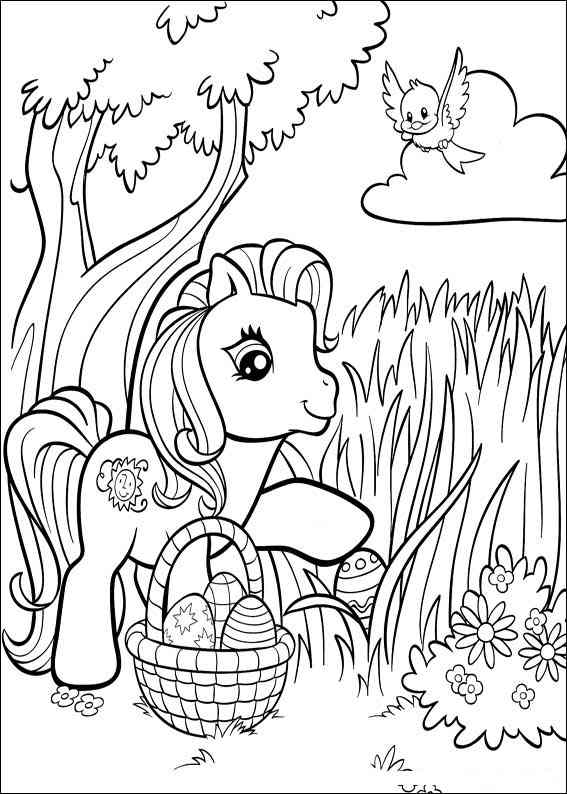 Easter my little pony 2 coloring page