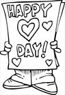 Valentine's day card coloring page