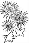 Flower with butterflies coloring page