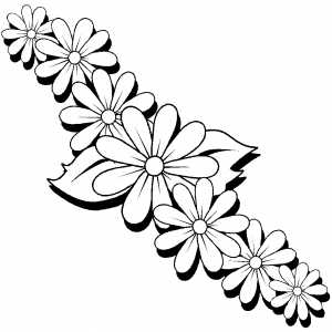 Flowers 5 coloring page