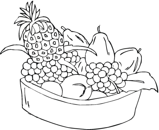 Fruits coloring page