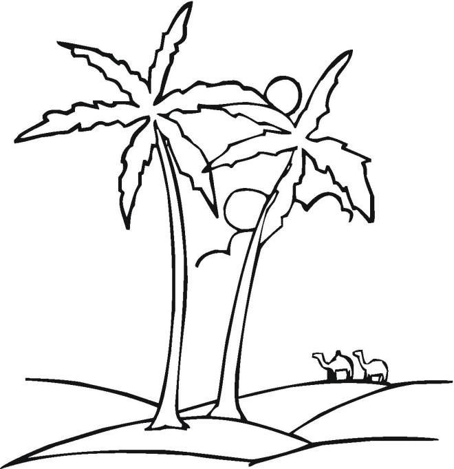 Tree 4 coloring page