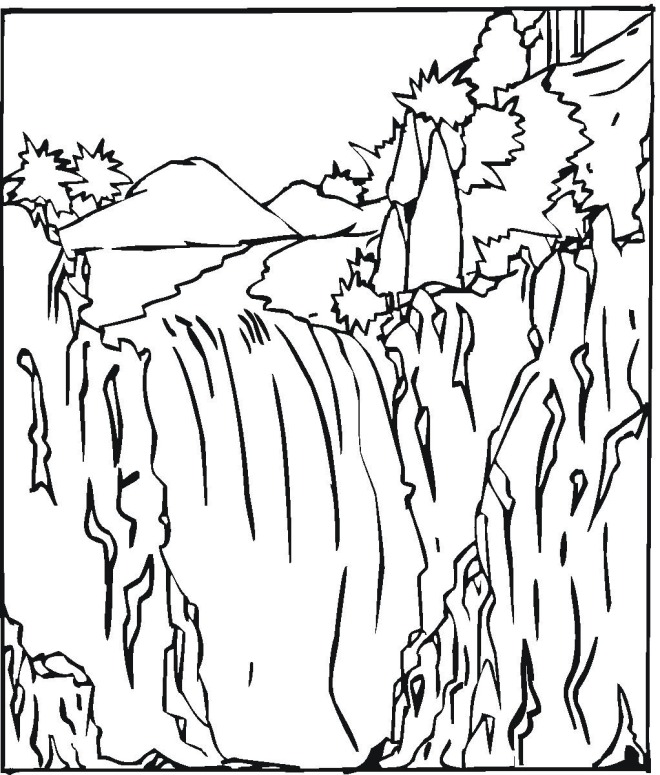 Waterfall 2 coloring page
