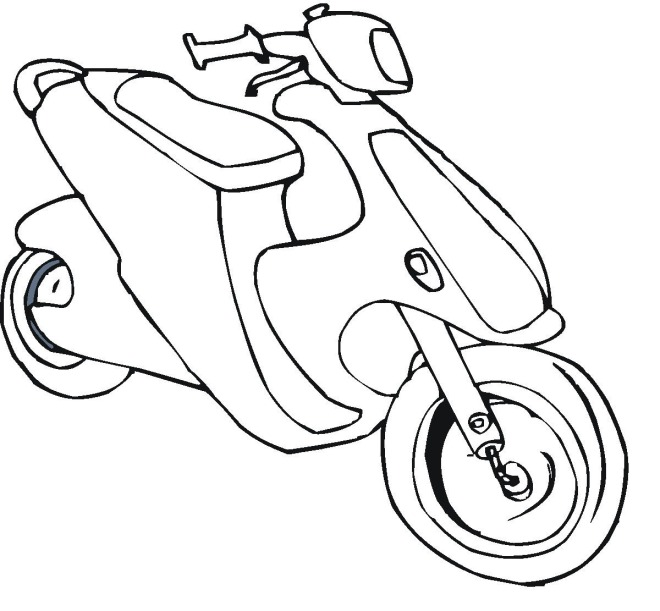 It's just a photo of Bright Scooter Coloring Pages
