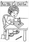 Writing coloring page