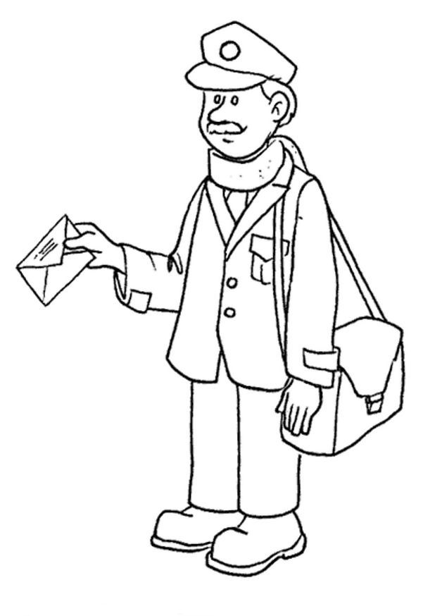 Postman 3 coloring page