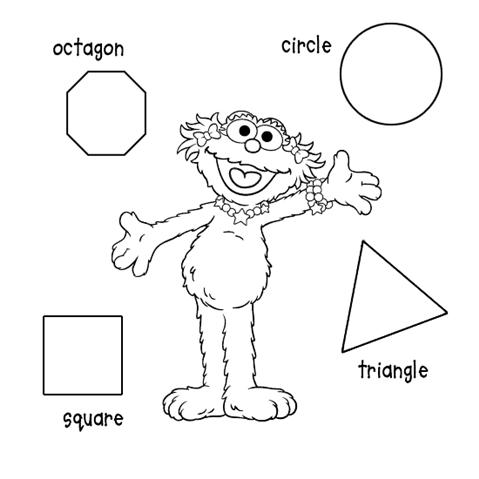 Shapes coloring page